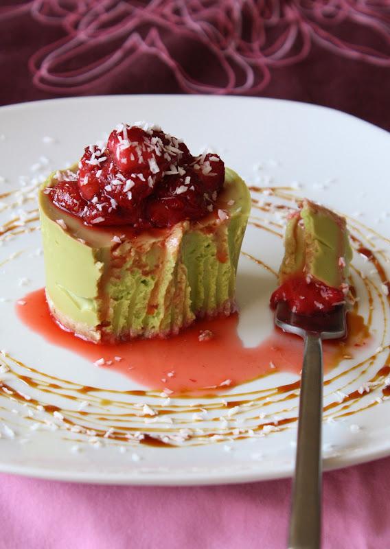 Cheescake cu avocado și vanilie